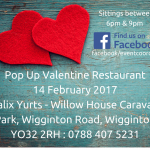 Pop Up Valentine Restaurant Ad